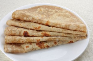 Homemade fresh Hot Chapati.
